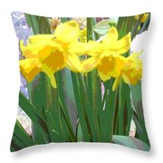 Pastel Tulips Throw Pillow
