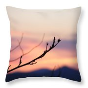 Pastel Twig Throw Pillow