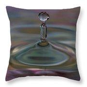 Pastel Water Sculpture 11 Throw Pillow