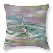 Pastel Water Sculpture 2 Throw Pillow