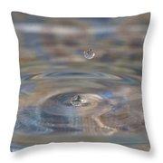 Pastel Water Sculpture 5 Throw Pillow