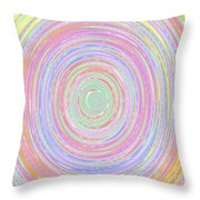 Pastel Whirlpool Throw Pillow