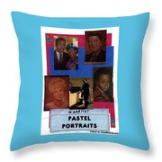 Pastels,oil,portraits Throw Pillow