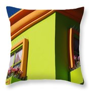 Pastle Corners Throw Pillow