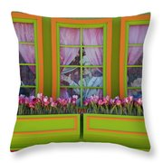 Pastle Windows Throw Pillow