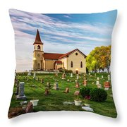 Pastoral Morn Throw Pillow
