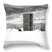 Pastoral Winter Throw Pillow