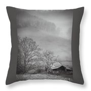Pasture Field And Barn Throw Pillow
