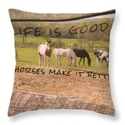 Pasture Friends Quote Throw Pillow