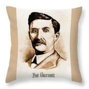 Pat Garrett Throw Pillow