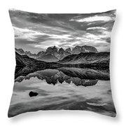 Patagonia Lake Reflection #2 - Chile Throw Pillow