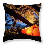 Patagonia Landscape Camping Throw Pillow