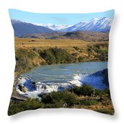 Patagonia Landscape Of Torres Del Paine National Park In Chile Throw Pillow
