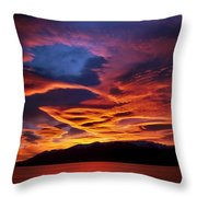 Patagonian Sunrise Throw Pillow