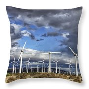 Patch Of Blue Palm Springs Throw Pillow
