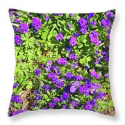 Patch Of Pansies Throw Pillow