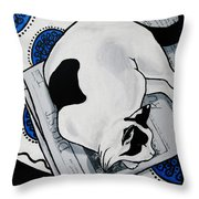 Patch, Sweet Fat Cat, Napping In The Sun Throw Pillow