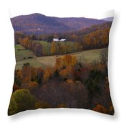 Patch Worked Mountains In Vermont Throw Pillow