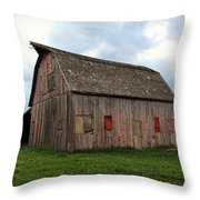 Patched And Still Standing Throw Pillow