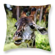 Patches Throw Pillow