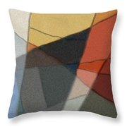 Patches In Harmony Abstract Throw Pillow