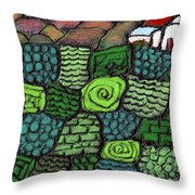 Patches Of Green Throw Pillow