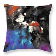 Patches Of Orange Throw Pillow