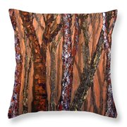 Patchwork Forest Throw Pillow