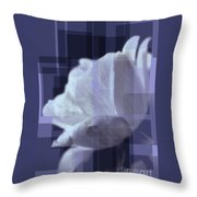 Patchwork Rose Throw Pillow