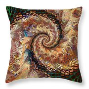 Patchwork Spiral Throw Pillow