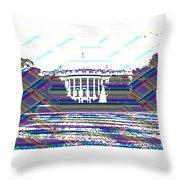 Patchwork White House Throw Pillow