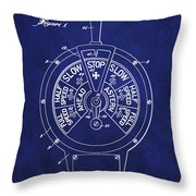 Patent 1921 Marine Telegraph Patent - Royal Blue Throw Pillow