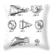 Patent Drawing For The 1962 Illuminating Means For Medical Instruments By W. C. More Etal Throw Pillow