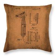 Patent  Razor Art Barry Toles Johansan Throw Pillow