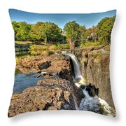 Paterson Water Falls Black And White Throw Pillow