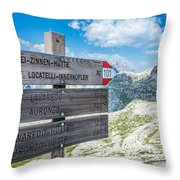Path Directions Throw Pillow