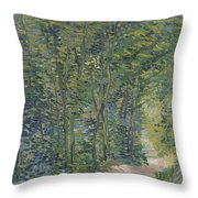 Path In The Woods Paris, May 1887 - July 1887 Vincent Van Gogh 1853  1890 Throw Pillow