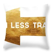 Path Less Traveled-  Art By Linda Woods Throw Pillow