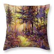 Path Of Illusions Throw Pillow