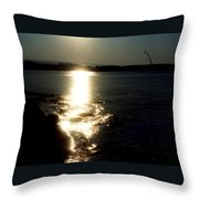Path Of Sunlight On The Sea Throw Pillow