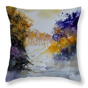 Path To ... Watercolor  Throw Pillow