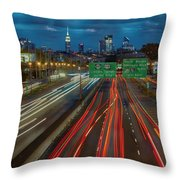 Path To And From Nyc Throw Pillow