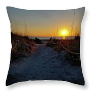 Path To Beach Throw Pillow