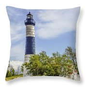 Path To Big Sable Throw Pillow