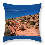 Path To Double O Arch Arches National Park Throw Pillow