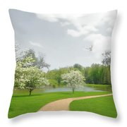 Path To Heart Throw Pillow