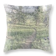 Path To Life Is Narrow Throw Pillow
