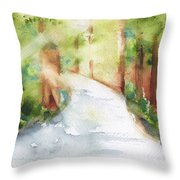 Path To Light Watercolor Throw Pillow