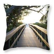Path To Marco Island Beach Throw Pillow