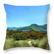 Footpath To Nestucca River Throw Pillow